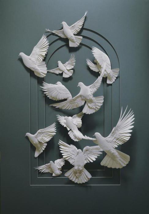 Фото - Аплікація: голуб з паперу своїми руками
