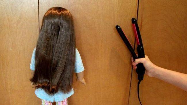 як випрямити волосся ляльок монстр хай