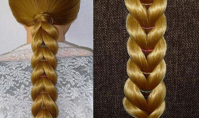 плетіння кіс з гумками