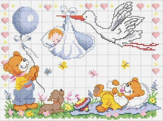 Фото - Метрика для новонароджених: схеми вишивки. Як робиться вишивка метрики для новонароджених?