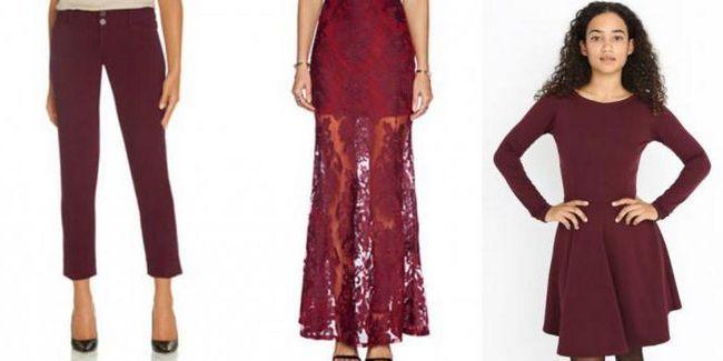 Фото - Сукню кольору марсала - тренд цього сезону
