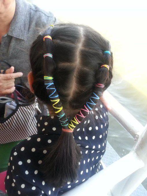 зачіски з маленькими резиночками