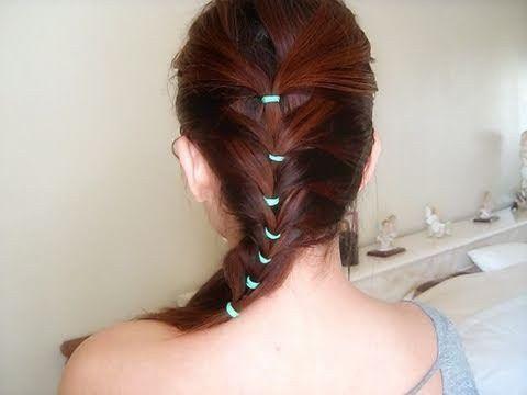 зачіска з резиночками на довге волосся