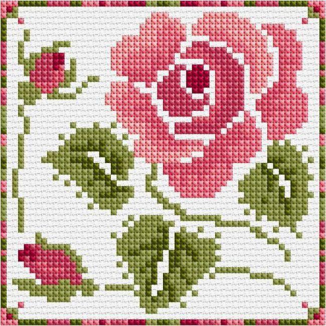 Фото - Вишивка хрестом: троянди (схеми, мова квітів, значення вишивки)
