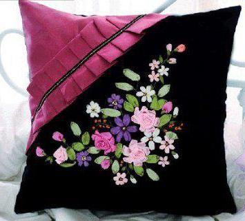 Фото - Вишивка стрічками: тюльпани, ромашки зі схемами та описом. Рукоділля для дому